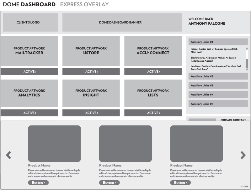 Dome Dashboard: Express Overlay