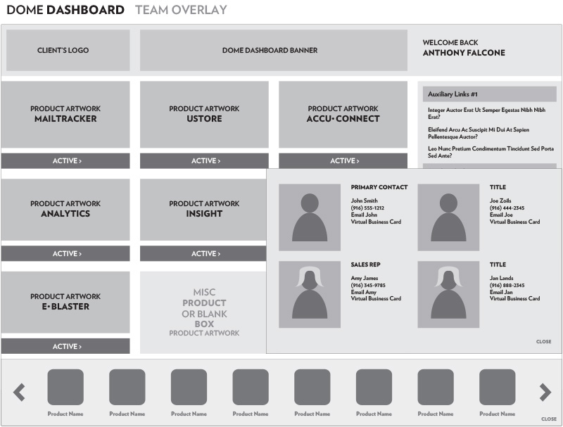 Dome Dashboard: Team Overlay
